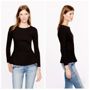 J. Crew Ponte Peplum Shirt Zip Up